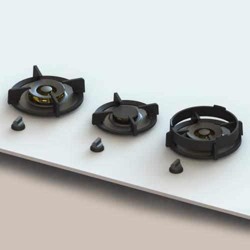 CUSIN Professional PITT® by Reginox - 3 PITT Individual Gas Hobs