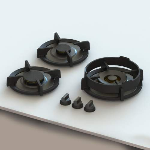 CAPITAL Professional PITT® by Reginox - 3 PITT Individual Gas Hobs