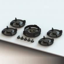 ELBRUS Professional PITT® by Reginox - 5 PITT Individual Burner Gas Hobs