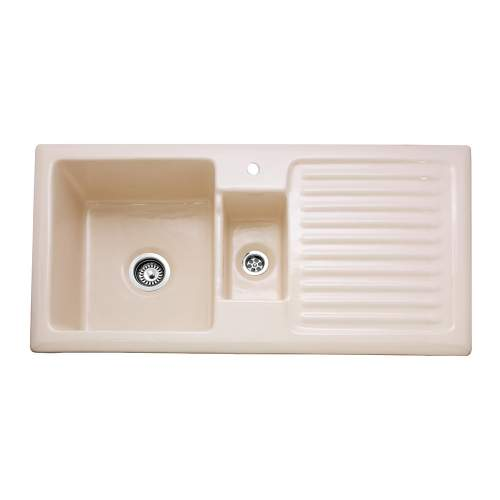 Caple Winchester 150 1.5 Bowl Ceramic Sink and Drainer