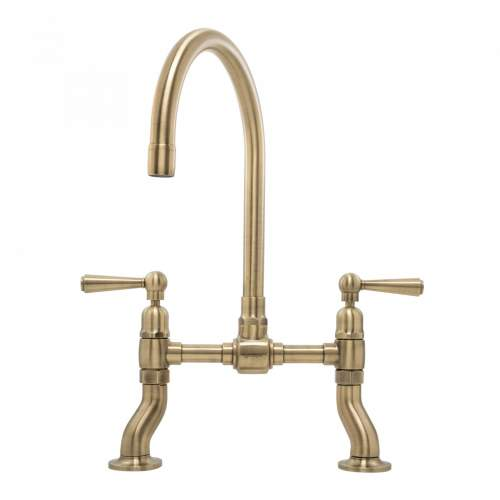 Caple Putney Bridge Deck Mount Kitchen Tap in Antique Brass