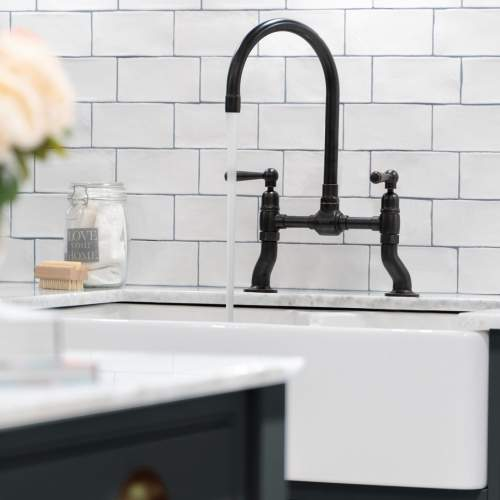 Caple Putney Bridge Deck Mount Kitchen Tap in Blackened Copper