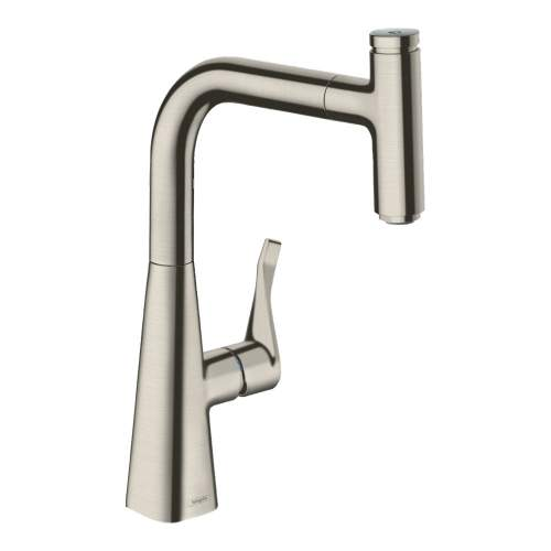 Hansgrohe Metris Select 240 Single Lever Kitchen Mixer Tap with Pull-out Spray Spout