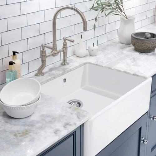 Caple Shapwick Ceramic Sit-On Kitchen Sink