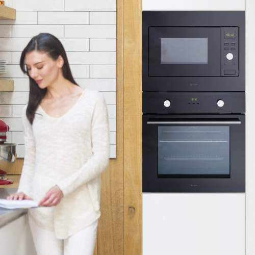 Caple CM123BK Classic Black Built-in Microwave and Grill