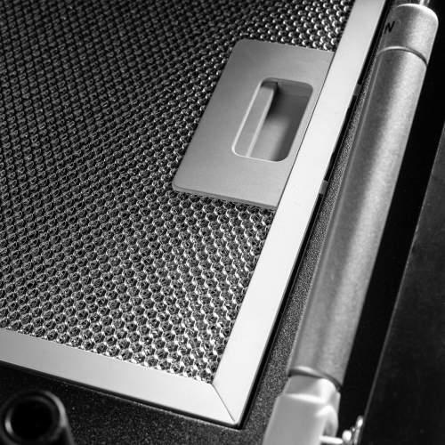 Caple ZEL900GM Gun Metal Wall Chimney Hood
