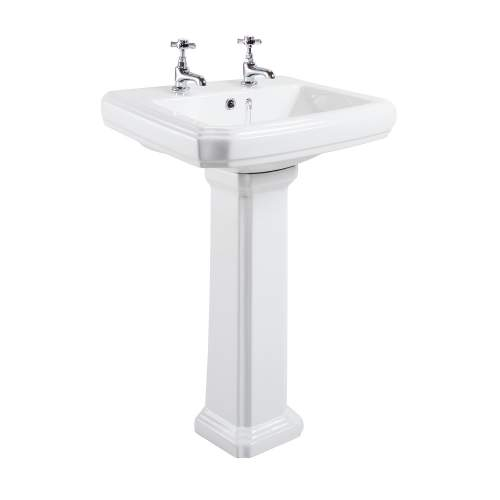 Aquabro Cromford Traditional Bathroom Basin & Pedestal