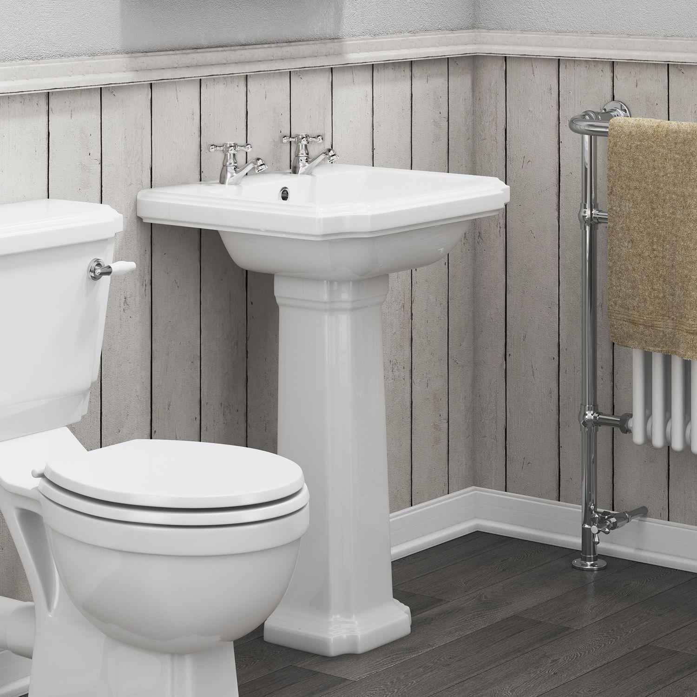 Aquabro Cromford Traditional Bathroom Basin Pedestal Sinks Taps Com
