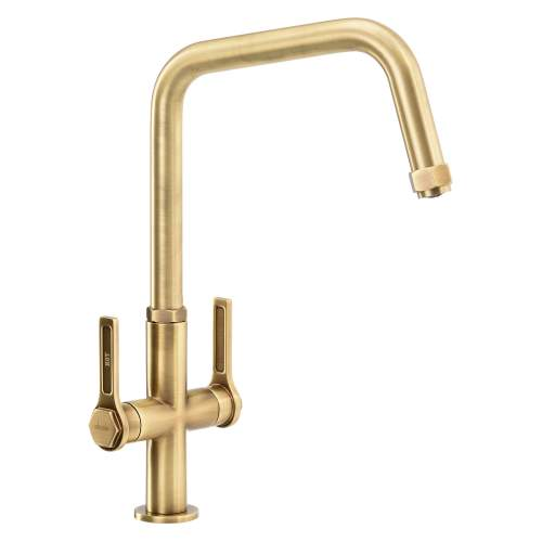 Abode HEX Monobloc Twin Lever Kitchen Tap AT2093