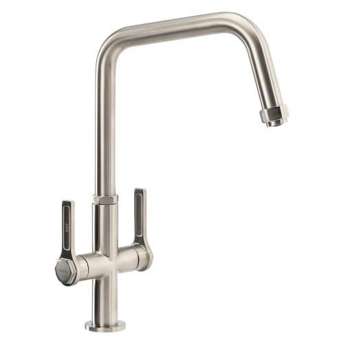 Abode HEX Monobloc Twin Lever Kitchen Tap AT2091