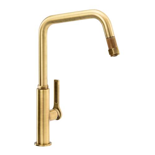 Abode HEX Single Lever Pull Out Kitchen Tap AT2090