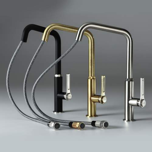 Abode HEX Single Lever Pull Out Kitchen Tap