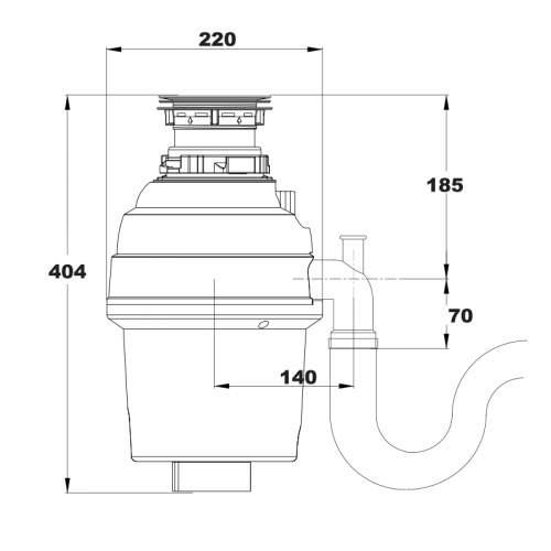Reginox RD70 Waste Disposer
