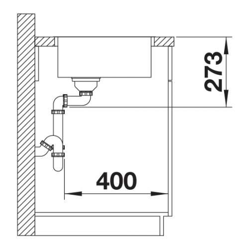 Blanco ZEROX 400-IF Durinox Inset 1.0 Bowl Sink