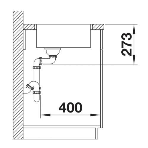Blanco ZEROX 500-IF Durinox Inset 1.0 Bowl Sink