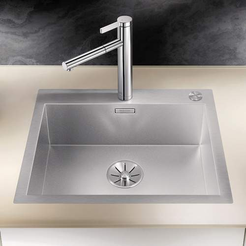Blanco ZEROX 500-IF/A Durinox Inset 1.0 Bowl Sink with Tapledge