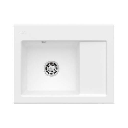Villeroy & Boch SUBWAY 45 Compact Classic Line Sink - Right Hand Drainer