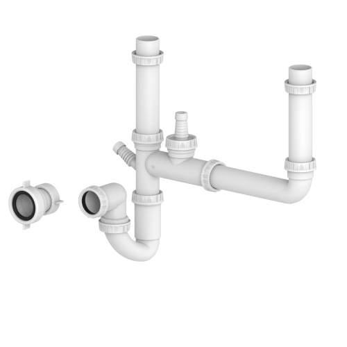 Bluci Double Bowl Plumbing Kit