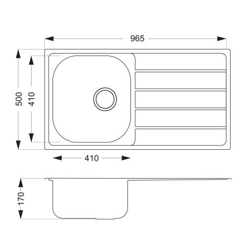 Bluci Liro 100L Single Bowl Sink and Tap Pack