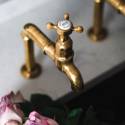 Perrin and Rowe 4338 Mayan Kitchen tap in Polished Brass