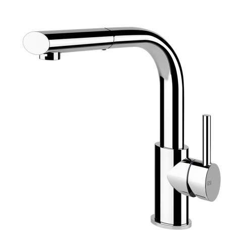 Gessi Ovale Side Lever Mixer with Swivel Spout and Single Jet Handshower