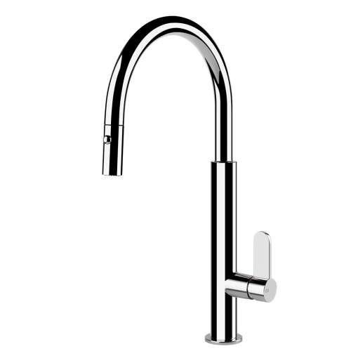 Gessi Helium Single Side Lever Monobloc Mixer Tap with Pull-Out Spray