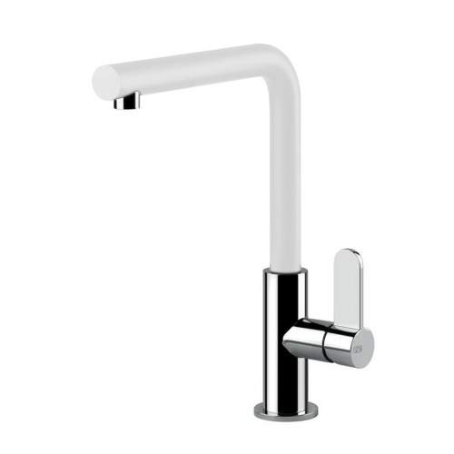 Gessi Helium Single Side Lever  Mixer Tap with Swivel L-Spout