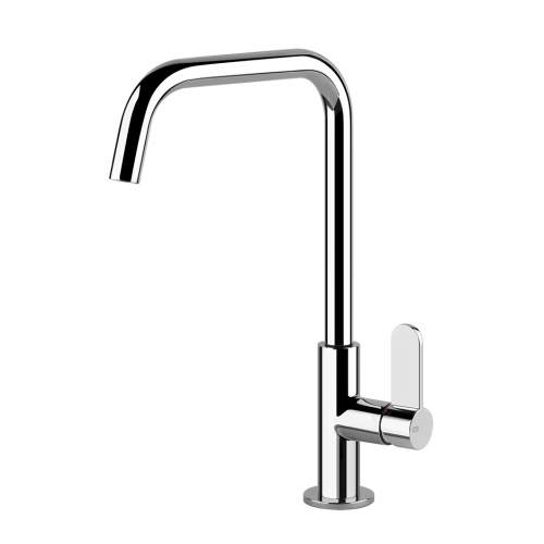 Gessi Helium Side Lever Mixer Tap with Swivel U-Spout