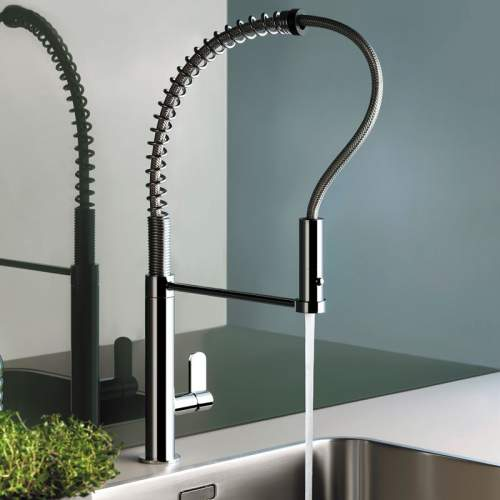 Gessi Helium Professional Monobloc Mixer Tap with Pull Out Spray