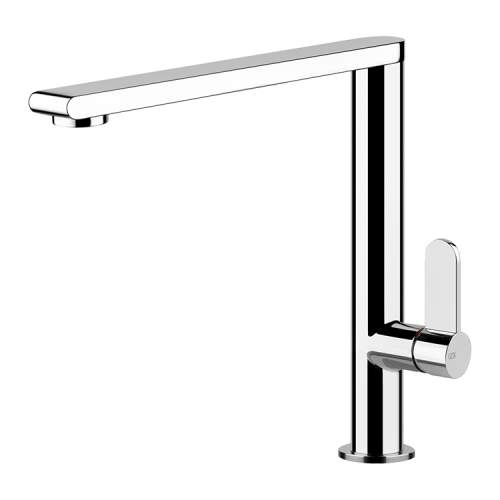 Gessi Helium Single Side Lever Mixer Tap with Flat Spout