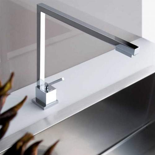 Gessi Quadro Kitchen Single Front Lever Monobloc Mixer Tap