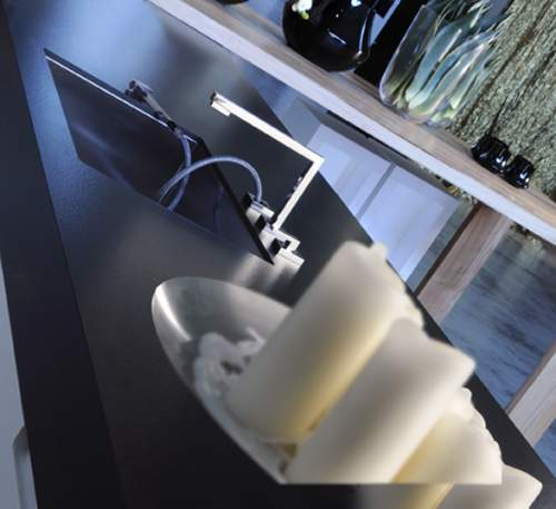 Gessi SU&GIU 3 Hole Mixer with Pull-Out Spray and Retractible Spout