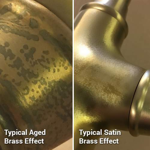 Perrin and Rowe Aged Brass Finish Detail