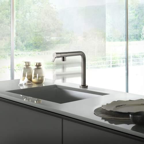 Gessi SU&GIU Sink Mixer with Retractible Spout