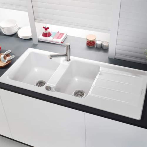 Villeroy & Boch Architectura 80 Classic Line 1.75 Bowl Ceramic Sink