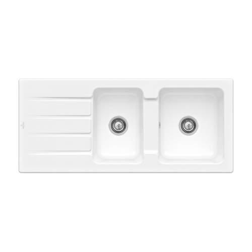Villeroy & Boch Architectura 80 Classic Line 1.75 Bowl Ceramic Sink - 338001KG