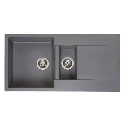 Reginox Amsterdam 15 1.5 Bowl Granite Sink in Grey Silvery
