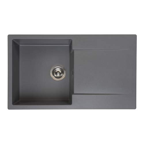Reginox Amsterdam 10 Single Bowl Granite Sink in Grey Silvery