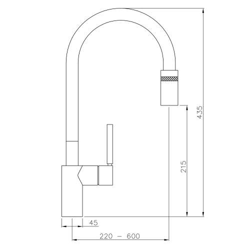 Abode RATIO Single Lever Pull-Out Spray Kitchen Tap