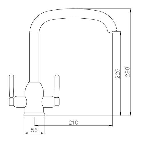 Abode Tate Dual Lever Tap