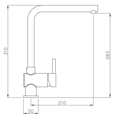 Abode QUALA Monobloc Tap