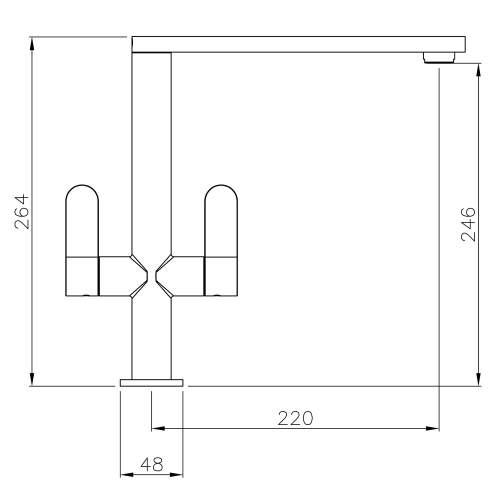 Abode LINEAR Monobloc Tap