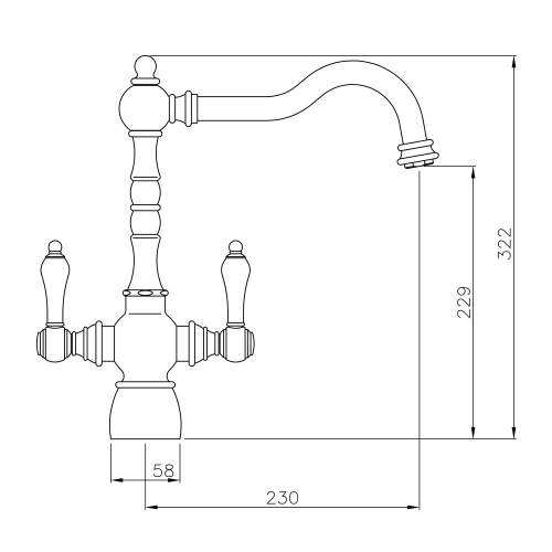 BAYENNE Dual Lever Mixer Tap