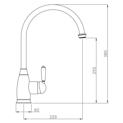 Abode ASTBURY Single Lever Mixer Tap