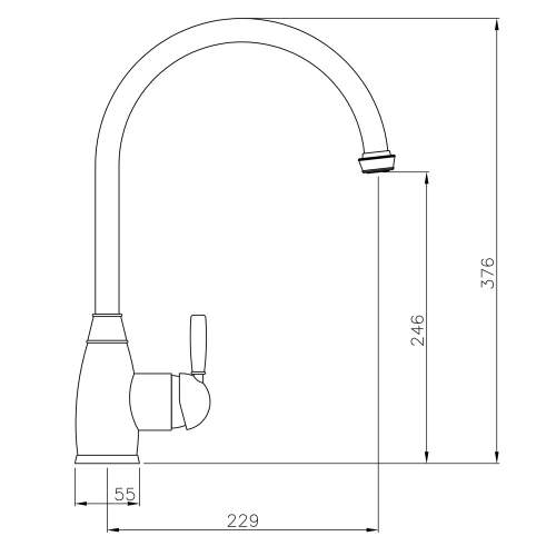 Abode Brompton Single Lever Kitchen Tap