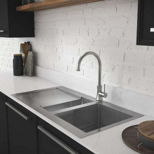 Abode Verve Single Bowl Stainless Steel Kitchen Sink