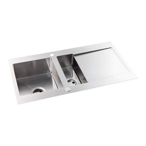 Abode Verve 1.5 Bowl Stainless Steel Kitchen Sink