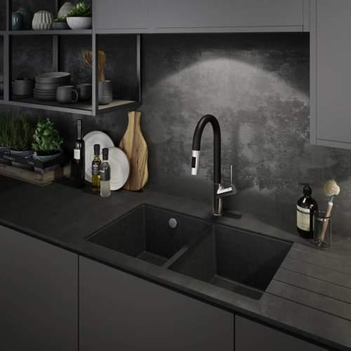 Abode MATRIX SQGR15 2.0 Bowl Granite Kitchen Sink