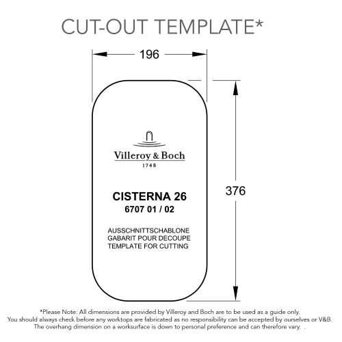 Villeroy & Boch CISTERNA 26 Undermount Kitchen Sink
