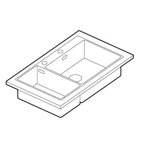 Franke Box Center BWX 220 54-27 Stainless Steel 1.5 Bowl Sink